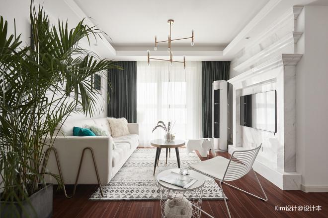 纯白空间客厅设计