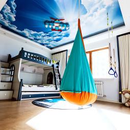 蓝色主题儿童房