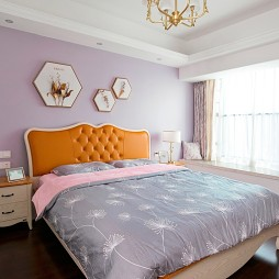 彩色简欧卧室设计实景