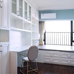 彩色简欧书房设计