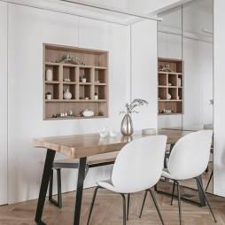 日式二居餐厅储物柜设计