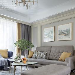 美式三居客厅背景画设计