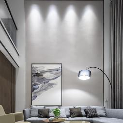 现代复式客厅设计实景
