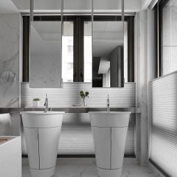 暗黑系现代客浴设计