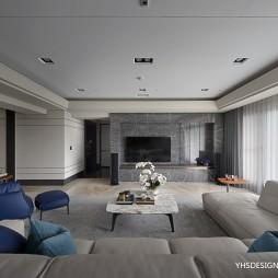 现代风豪宅客厅吊顶设计