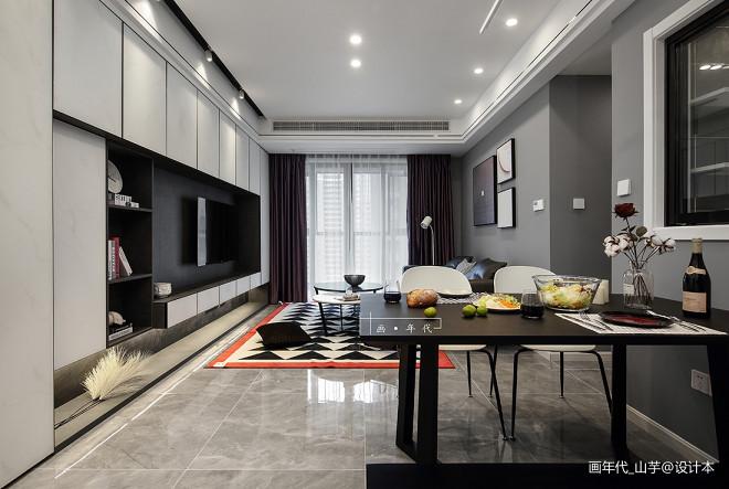 灰色系北欧风三居客厅设计