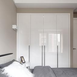 灰色系北欧风卧室衣柜设计