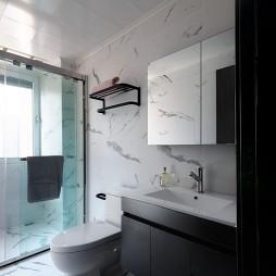 黑色系现代卫浴设计