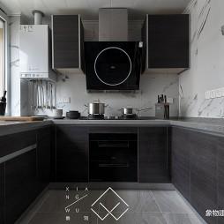 黑色系现代厨房设计