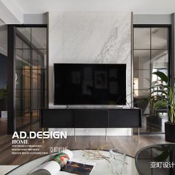 纯色现代背景墙设计