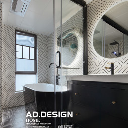 纯色现代卫浴设计