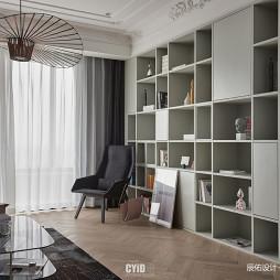 現代法式客廳儲物柜設計