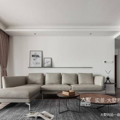 原木北欧客厅隔板设计
