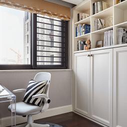 经典美式四居书房书柜设计