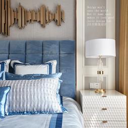 经典美式四居卧室床头灯设计
