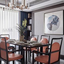 中式复式餐厅挂画设计