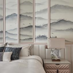 中式复式主卧床头灯设计