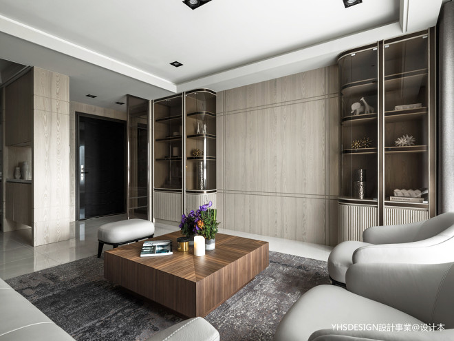 新古典豪宅客厅储物柜设计图