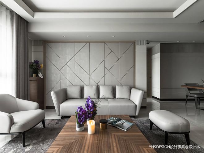 新古典豪宅客厅沙发背景设计