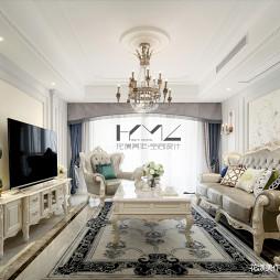 法式四居客厅吊灯设计