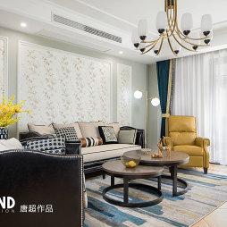 168㎡美式客厅设计图