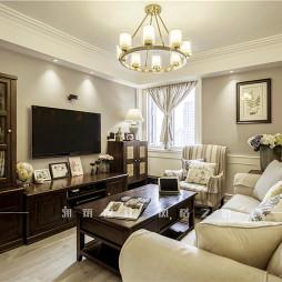 美式二居客厅设计实景