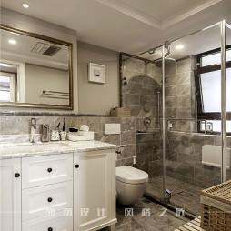 美式二居卫浴设计实景