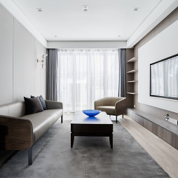 现代简约客厅设计实景