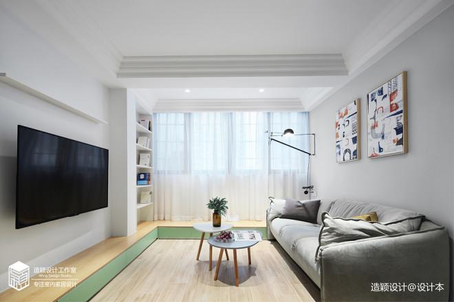 温馨北欧三居客厅设计
