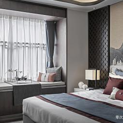 高级中式样板房卧室实景