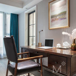 140m² 简美书房书桌设计