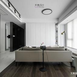 黑白现代客厅设计实景