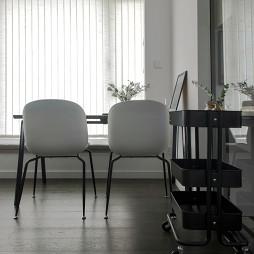 黑白现代餐厅设计实景