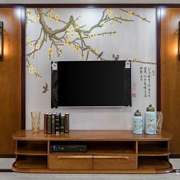 新中式优雅背景墙设计