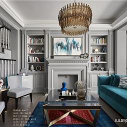 经典美式客厅书柜设计