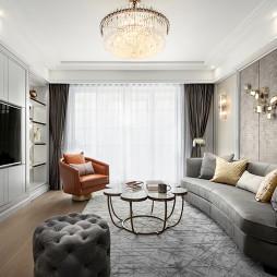 轻奢美式客厅吊灯设计