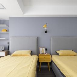 现代双人儿童房设计实景图