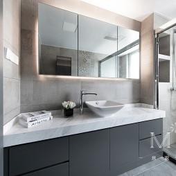 130m² 现代卫浴洗手台设计图