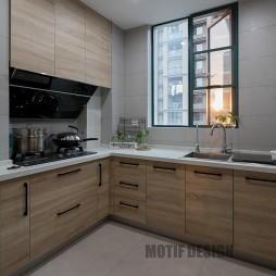 现代三居厨房设计实景