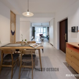 现代原木风餐桌设计