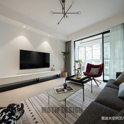 现代客厅背景墙设计实景