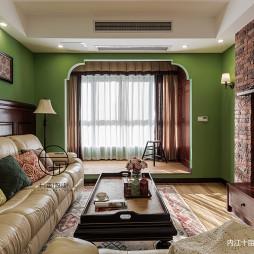 重彩美式客厅设计图片