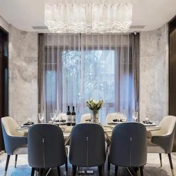 轻奢现代别墅餐厅设计