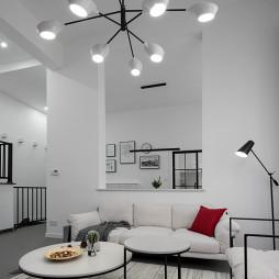 106㎡极简北欧客厅吊灯设计图