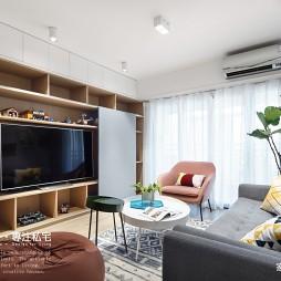 混搭三居客厅储物柜设计