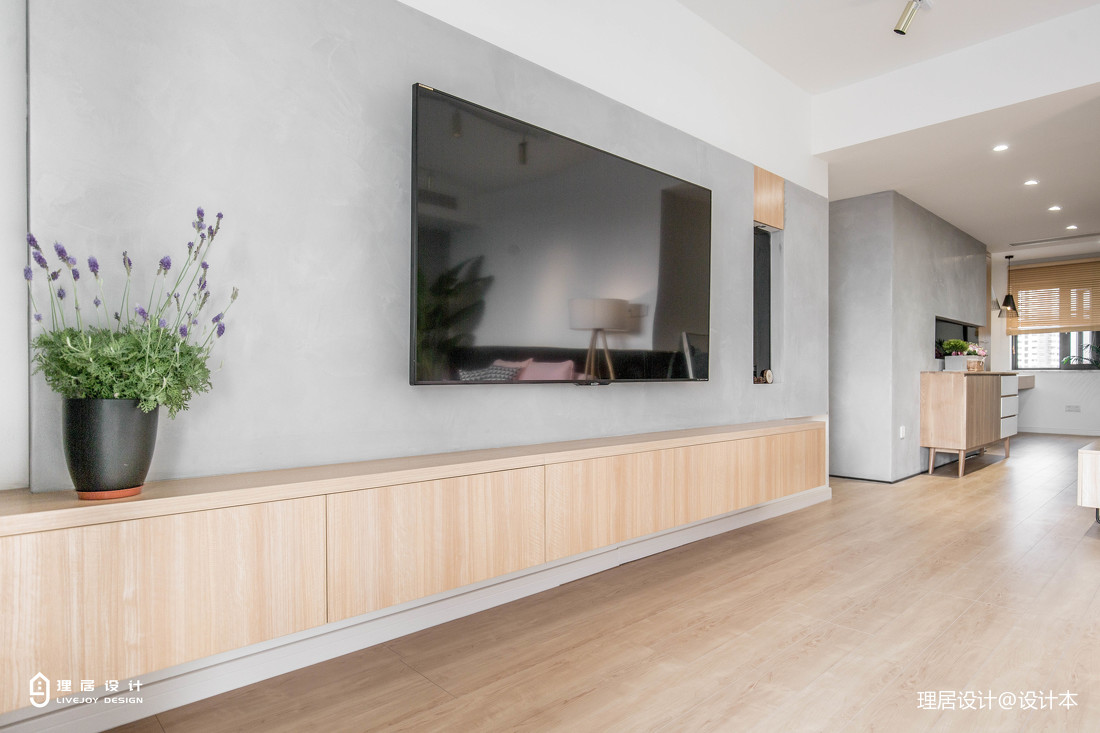 木色北欧背景墙设计