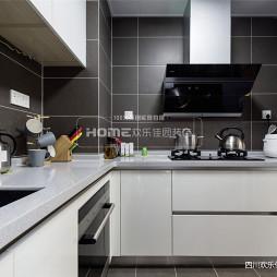 高级灰现代厨房设计