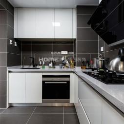 高级灰现代厨房设计图片