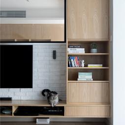 淳樸日式客廳儲物柜設計