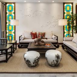 宏川会中式别墅客厅设计